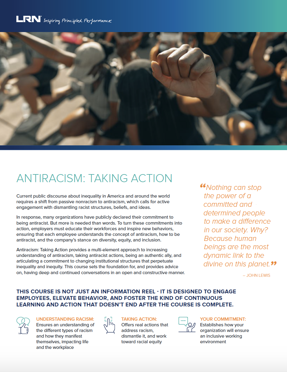 Antiracism: Taking Action One Pager