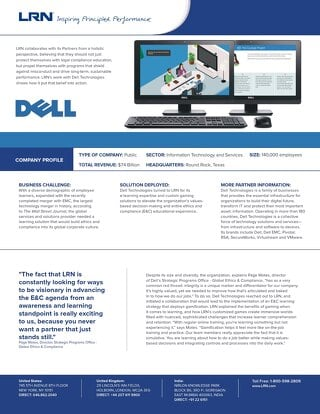 LRN Case Study: Dell